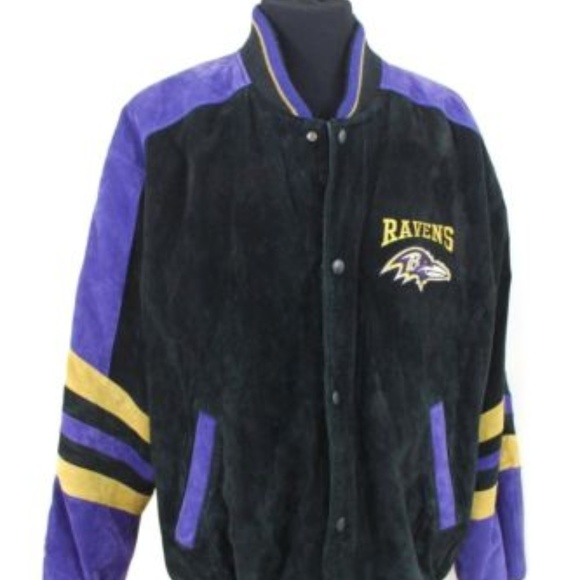 separation shoes e731c 8570e Mens NFL Ravens Suede Football Stadium Jacket XL